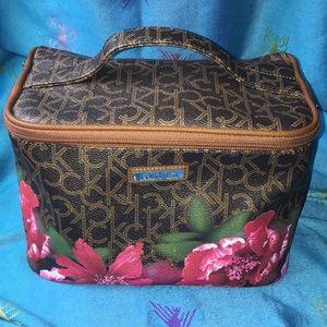 Calvin Klein floral Medium Cosmetic Bag